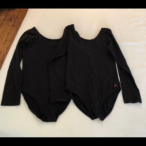 Bundle of two dance leotards
